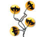 Bat in Moon String Lights Set 10 Count Display Silo Image