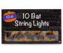 Bat in Moon String Lights Set 10 Count Package Silo Image