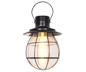 Wilson Amp Fisher Black Battery Operated Industrial Pendant