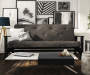 Baxter Gray Coil Futon lifestyle living room
