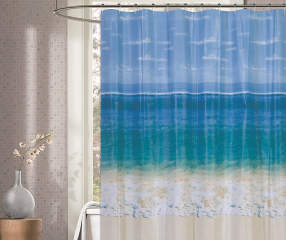 Living Colors Beach Scene Shower Curtain Big Lots
