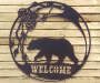 Bear Welcome Metal Wall Decor lifestyle