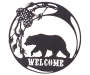 Bear Welcome Metal Wall Decor silo front