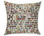 Bedrock Multi Color Throw Pillow 20in x 20in silo front