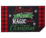 Believe In Christmas Rubber Outdoor Doormat  Silo Image Corner Fold