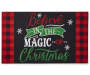 Believe In Christmas Rubber Outdoor Doormat  Silo Image