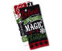 Believe in Magic Christmas Kitchen Towels 2 Pack Stacked and Fanned Overhead View Silo Image