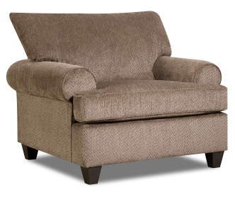 Simmons Trevor Chocolate Memory Foam Chair And A Half