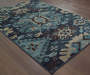 Benton Navy Area Rug 6FT7IN x 9FT6IN On Wood Floor