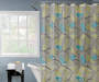 Bird and Branch Shower Curtain 72 Inches on a Rod Bathroom Setting Lifestyle Image