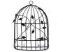 Birdcage Metal Wall Sconce Candle Holder Silo