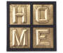 Blac HOME Window Pane Wall Decor with Metal Letters Overhead Shot Silo Image