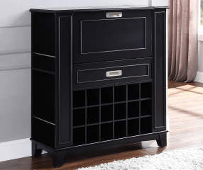 Black  Cubby Bar Wine Cabinet Big Lots
