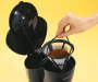 Black 12 Cup Coffee Maker with Coffee Filter Basket Silo Image