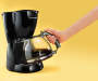 Black 12 Cup Coffee Maker with Hand Model Silo Image