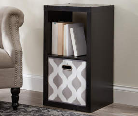 Stratford 2 Cube Black Storage Cubby Big Lots