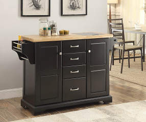 Black 4 Drawer Kitchen Cart Big Lots