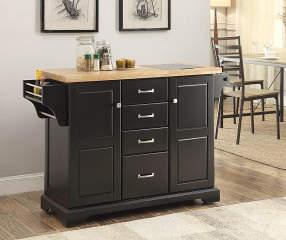 Black 4 Drawer Kitchen Cart Big Lots