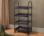 Black 4 Tier Mixed Media Shelf lifestyle