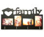 Black 4-Opening Family Collage Picture Frame with Hooks Silo
