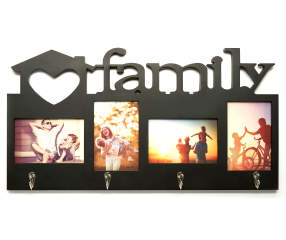 black 4 opening family collage picture frame with hooks big lots