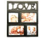 Black 4-Opening Love Collage Frame Silo