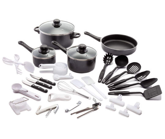 Great Gatherings Black 40-Piece Expanded Cookware Set