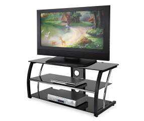 44 Quot Black Glass Tv Stand Big Lots