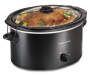 Black 5 Quart Portable Slow Cooker Lid Closed Silo Image