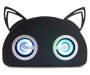 Black Bluetooth  Light-Up Cat Speaker Front Silo