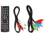 Black DVD Player silo front remote and cord