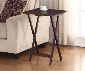 espresso folding tray table big lots. Black Bedroom Furniture Sets. Home Design Ideas