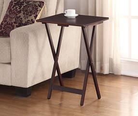 Espresso Folding Tray Table Big Lots