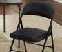 Black Fabric Folding Chair Detail Room View