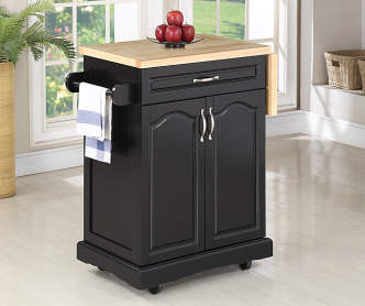 Granite Top 4 Door White Kitchen Cart Big Lots