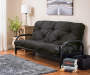 Black Futon Frame and Black Futon Mattress in Room