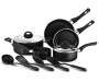 Black Heavy Duty 11 Piece Cookware Set without Large Skillet and Pot Silo Image
