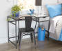 Black High Back Metal Bistro Chair lifestyle