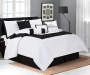 Black Hotel 8 Piece Queen Bed In A Bag on Bed Room View