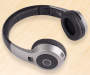 Black Metallic Bluetooth® Headphones
