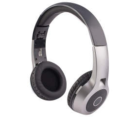 vivitar black metallic bluetooth headphones big lots. Black Bedroom Furniture Sets. Home Design Ideas