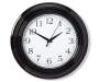 "Black Monterey Wall Clock, (10"")"