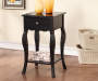 Black One Drawer Accent Table Decorated Room View