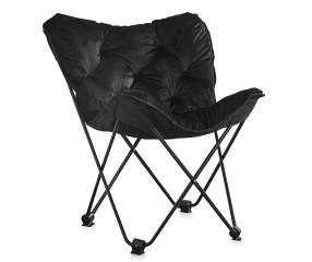 just home black padded folding butterfly chair big lots. Black Bedroom Furniture Sets. Home Design Ideas