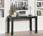Black Parsons 48 Inch Desk Decorated Room View