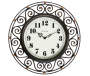 Black Scroll Frame Wall Clock Silo