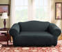 Black Stretch Sofa Slipcover Lifestyle