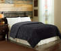 Black Tiger Faux Fur Full Queen Comforter Lifestyle Image