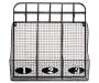 Black Wire Basket Cubby with Hooks Empty Overhead Shot Silo Image
