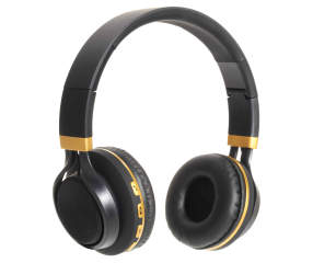 sentry black gold bluetooth deluxe headphones big lots. Black Bedroom Furniture Sets. Home Design Ideas